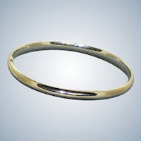 Estate 14K White Gold Bangle