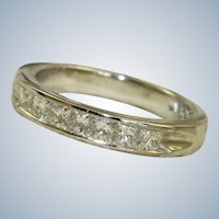 Estate Hammerman Brothers Platinum Half Eternity Band
