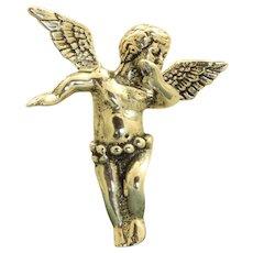 Vintage Sterling Angel Pendant