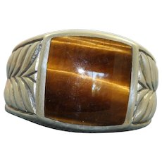 Estate Sterling Tiger's Eye Retired David Yurman Ring