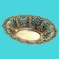 1869 Sterling London Condiment or Sweets Pierced Repose Dish