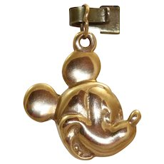 Estate 14 K @Disney Mickey Mouse Pendant/Charm