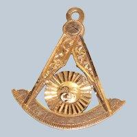 14K 1945 Masonic Lodge Pendant/Fob