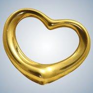 Estate 18 K Retired Tiffany Large Peretti Floating Heart