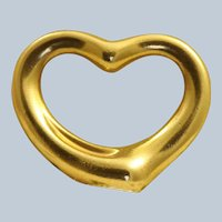 Estate 18K Tiffany & Co Retired Medium Peretti Floating Heart