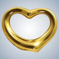 Estate 18 K Tiffany & Co Retired Medium Peretti Floating Heart