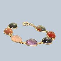 Estate 14K Scarab Bracelet