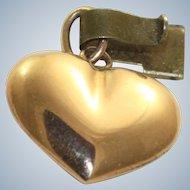 Estate 14K Puffy Heart Charm
