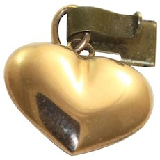 Estate 14K Puffy Heart Charm