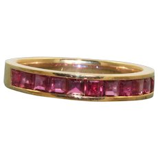Estate 1 CT Ruby Half Eternity Band