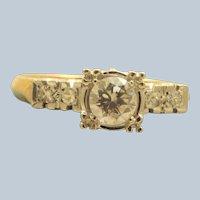 Estate 1940's 14K  @0.55 CT Diamond Ring