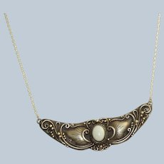 !960's Sterling and Opal Winged Necklace
