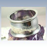 Vintage Whiting Sterling Napkin Ring