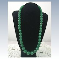Estate Graduated Aventurine Necklace