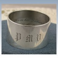 1919 London Sterling Napkin Ring