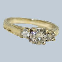 Estate 14KW 0.70 CT Diamond Ring