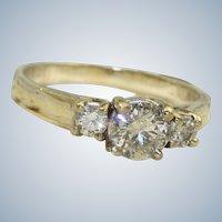 Estate 14KW 0.70 CT Diamond Ring