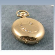 1890's Five Diamond Pocket Watch