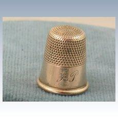 Estate 14K Gold Size 10 Thimble