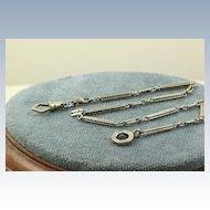 14K Crescent Watch Chain