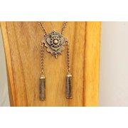 15 C Victorian Belcher Chain with Watch Brooch