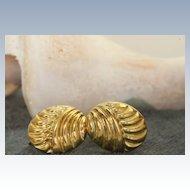 Estate 14K Gold Screwback Earrings