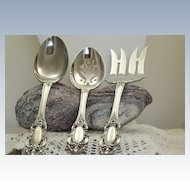 Estate Towle Sterling Grand Duchess 3 Piece Serving Set