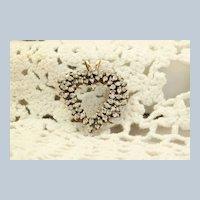 Estate 14K Large Heart Diamond Pendant