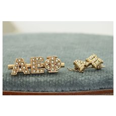 10 K  Pair of Fraternity Pins