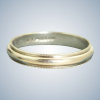 Estate Jabel 18K White Gold Band