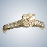 Estate Platinum Jeff Cooper 1.26 CT Diamond Ring