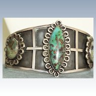 Los Ballesteros Sterling Turquoise Cuff