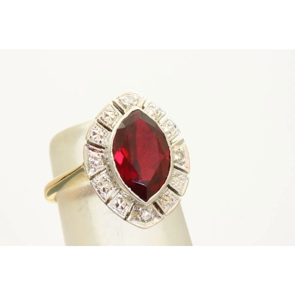 ring in red sterling rings products vir jewels ct garnet silver engagement stone