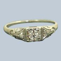 Estate 18 KW 0.22 CT Jabel Diamond Ring