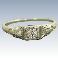 Estate 18 KW 0.22 CT Jabel Diamond Ring
