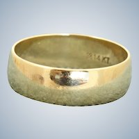 Estate 14 K Orange Blossom 7 mm Wide Band
