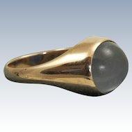 Estate 14 K Rose Gold  Moonstone Gent's Ring