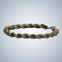 Estate Sterling/18K Twisted Rope Bracelet