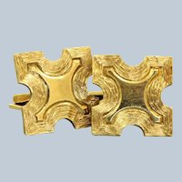 Estate 14 K Gold Cuff Links, Germany