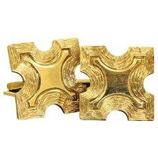Estate 14 K Gold Cuff Links, Germany