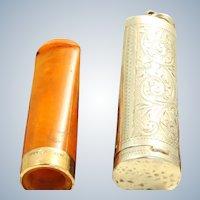 1914 Birmingham Sterling/9 CT Cigar Holder Fob