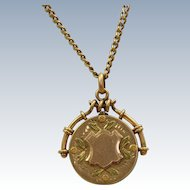 10 K Tri-Colored Gold Locket