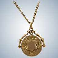 10 K Tri-Colored Gold Locket
