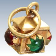 Vintage 18 K 3 Dimensional Traffic Light Charm