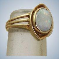 Estate 14K 2 CT Opal Ring