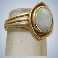Estate 14 K 2 CT Opal Ring