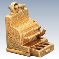 Vintage 14 K Cash Register Charm