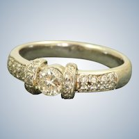 Estate 18KW 0.80 CT Diamond Band