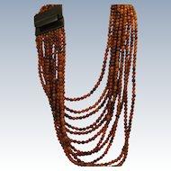 Estate Gerda Lynggaard for Monies Horn Runway Bib Necklace
