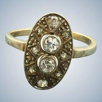 Estate 14 KW 0.44 CT Rose Cut Diamond Ring